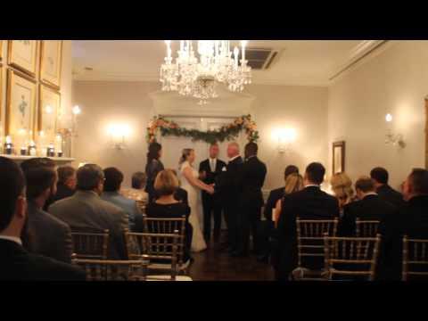 Oliver-Schmidt Wedding Ceremony at Morrison House, Alexandria, VA 10/23/2015