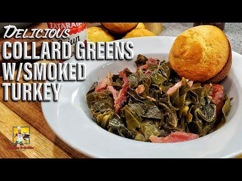 southern-collard-greens-w/smoked-turkey-legs- -collard-greens-recipe