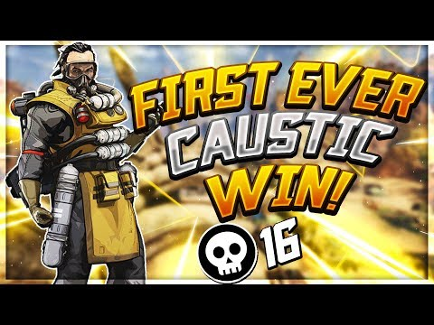 First Win As Caustic! - Seagull - Apex Legends