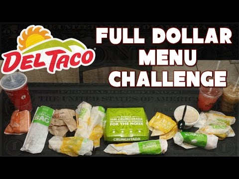 Del Taco $20 Challenge: Full Dollar Menu *Buck and Under* | FreakEating vs the World 133