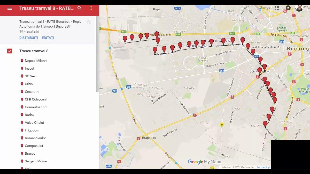 Traseu Tramvai 8 Ratb Bucuresti Video Trasee Tramvaie Youtube