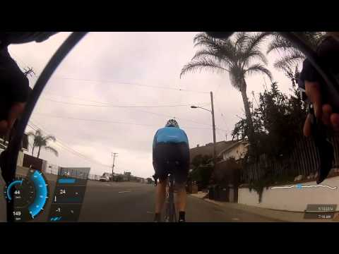Biking Santa Monica to Latigo Canyon Rd Malibu CA via PCH, 05/18/2014