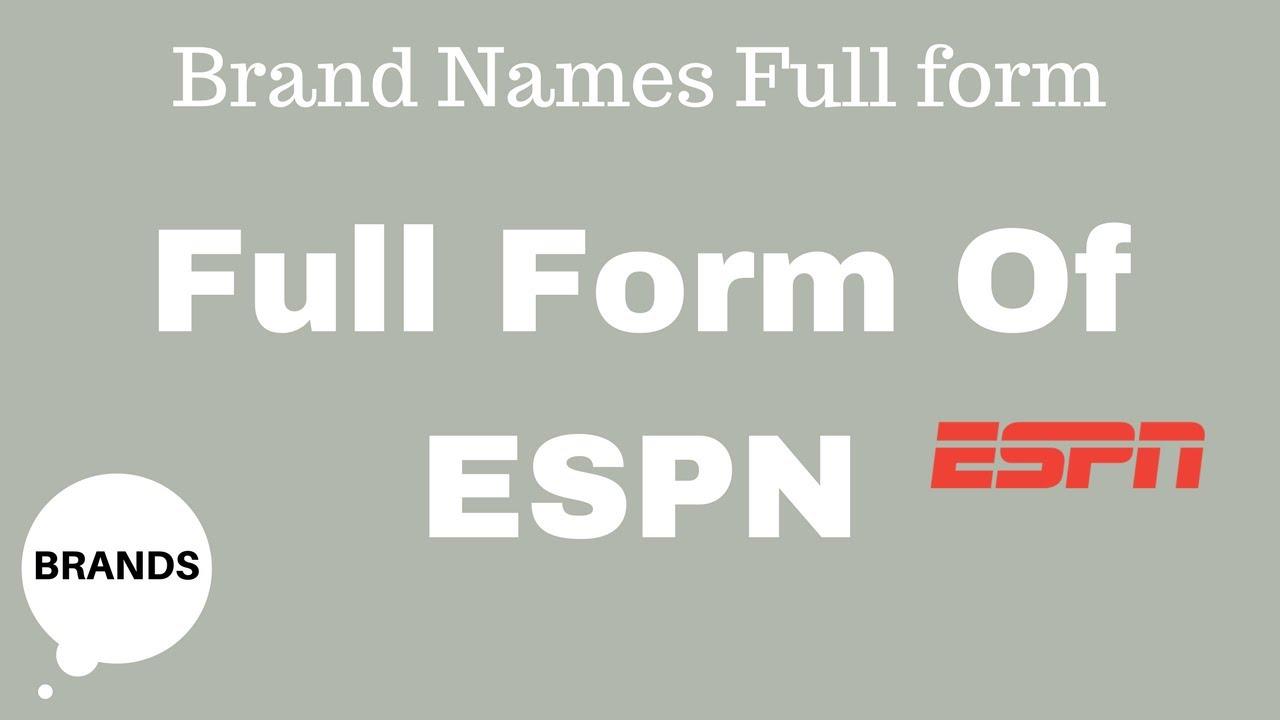 Full Form of ESPN - YouTube