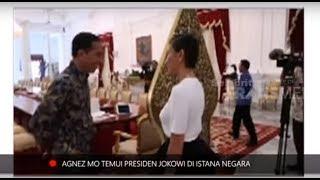 Agnez Mo Temui Presiden Jokowi. Ini Yang Dibicarakannya