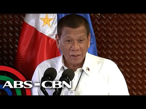 President Duterte speaks at broadcasters' gathering