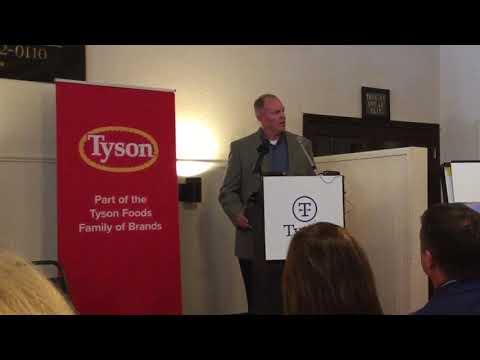 Tyson Foods announces its plans for a poultry complex in Kansas