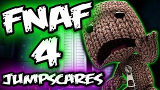 FNAF 4 JUMPSCARES but Adorable || FNAF 4 Little Big Planet 3 Five Nights at Freddy's 4 Jumpscares