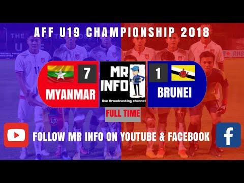 Myanmar 7-1 Brunei(FT) HIGHLIGHT AFF U 19 Championship 2018