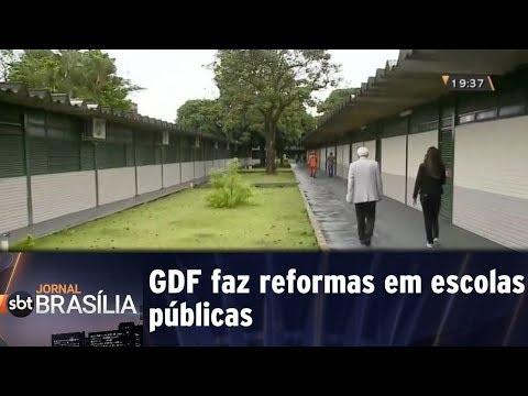GDF faz reformas em escolas públicas