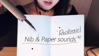 ASMR Realistic! Nib and Paper Sounds for your concentration 1H