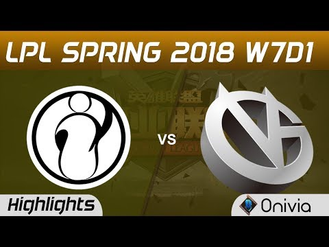 IG vs VG Highlights Game 1 LPL Spring 2018 W7D1 Invictus Gaming vs Vici Gaming by Onivia