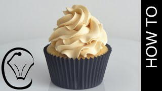 How To Make Thick Stable Caramel Swiss Meringue Buttercream by Cupcake Savvy