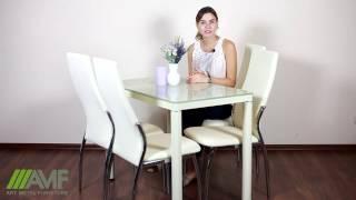 Стол обеденный Ронда B04-2. Обзор стола для кухни от amf.com.ua(Купить Стол обеденный Ронда B04-2: http://amf.com.ua/stol_ronda_b042_1000600750_baza_belyjjsteklo_mentol/p257587/ Простой и элегантный ..., 2016-11-29T08:50:24.000Z)