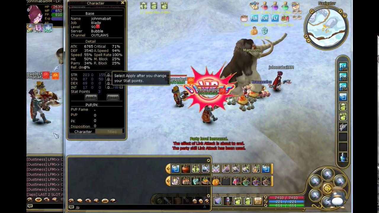 PlaryPark Flyff Blade Master to Hero Journey | johnmabait