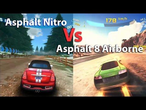 Asphalt 8 Airborne  [1gb]  vs Asphalt Nitro [35mb] Android Gameplay