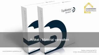 TopKontor Handwerk - Artikel / Material verwalten
