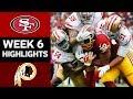 49ers vs. Redskins | NFL Week 6 Game Highlights