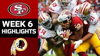 49ers vs. Redskins | NFL Week 6 Game Highlights