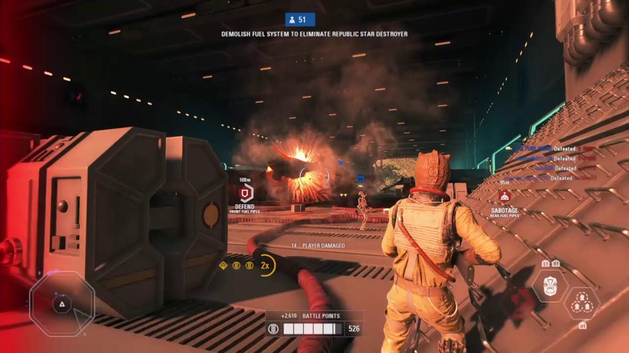 Star Wars Battlefront 2 Bossk Gameplay Youtube