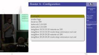 Protocole de routage: BGP4 - LSE Week 2012