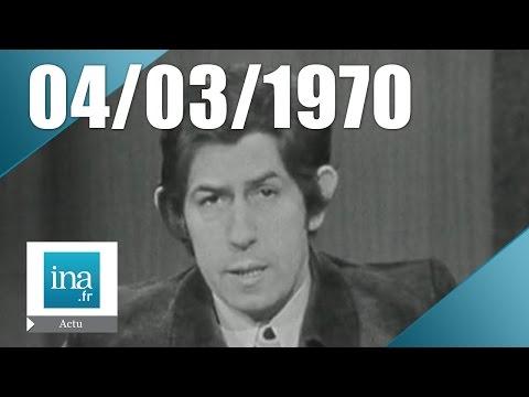 13h 1ère chaîne ORTF du 04 mars 1970 - Georges Pompidou revient des USA | Archive INA