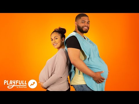 Dads Try to Sleep With Pregnant Bellies For a Week
