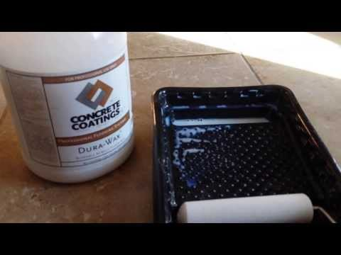 Durawax Acrylic Floor Wax- Shine and protect concrete or tile