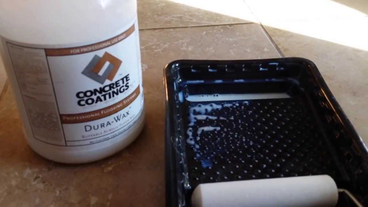 Durawax Acrylic Floor Wax Shine And Protect Concrete Or Tile YouTube - How to protect ceramic tile floors