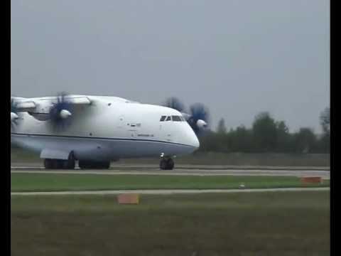 Antonov An-70 - new Ukrainian transport aircraft at AVIASVIT 2008 airshow
