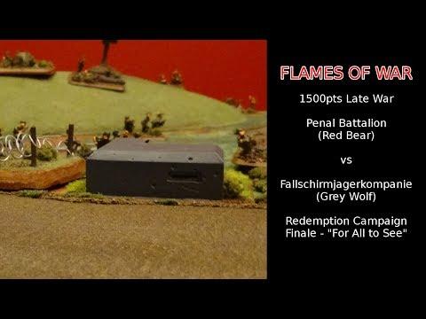 Flames of War Battle Report - Penal Battalion vs Fallschirmjager / Redemption Campaign Finale