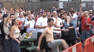 Reaction From England Fans As Croatia Equalise - Russia 2018 World Cup