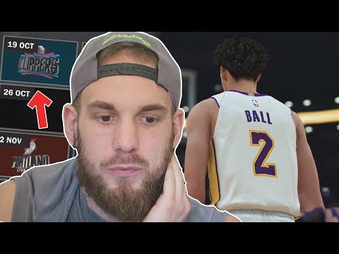 PREMIER MATCH DE LONZO BALL ET NOS LAKERS !! | NBA 2K18 MG ( SCÉNARISÉ ) #2