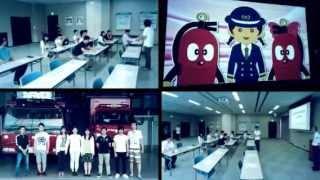 Intl. students visit Fukuchiyama Safety Center