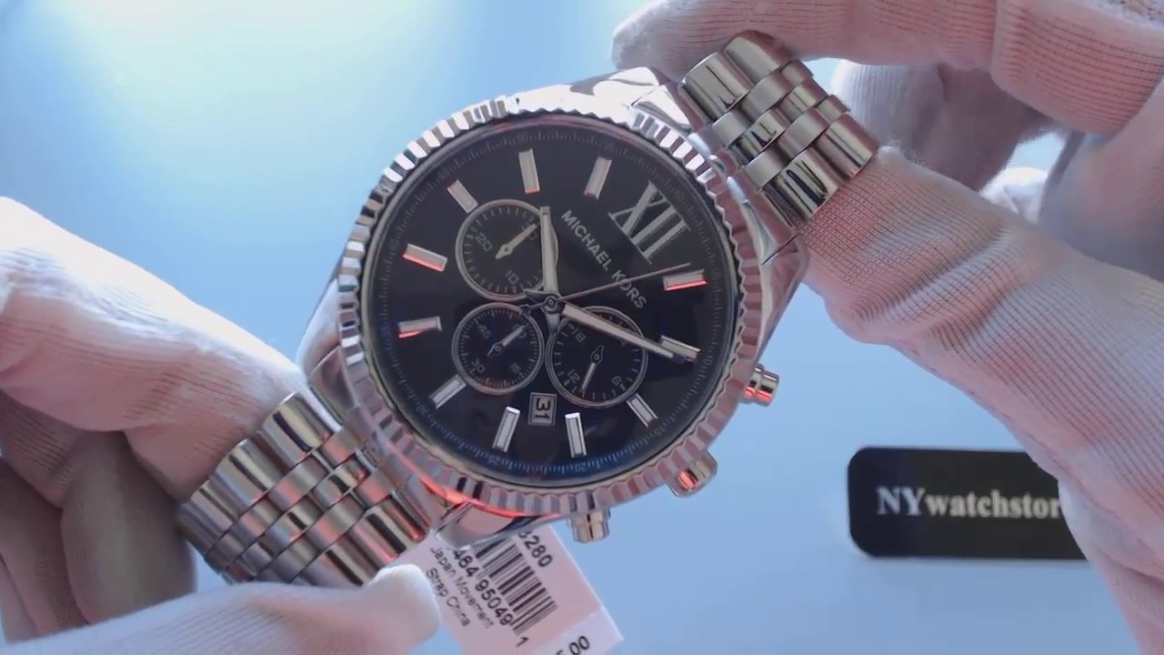 09f2538f8a90 Men s Michael Kors Lexington Chronograph Watch MK8280 - YouTube