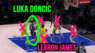 WHAT YOU DIDN'T SEE: Lebron James vs Luka Doncic EPIC BATTLE