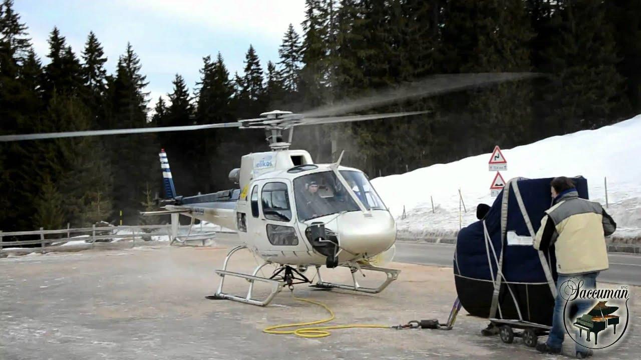 Elicottero B3 : Saccuman snc trasporto pianoforte a coda con elicottero ecureuil