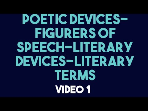 Poetic or Literary /Devices or Techniques