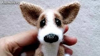 Амигуруми: схема Щенок Коржик. Игрушки вязаные крючком - Free crochet patterns.