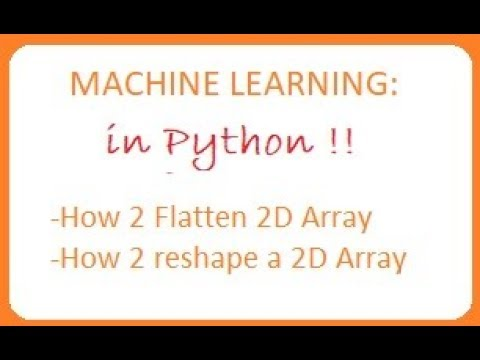 Python Image Classification: Flattening and reshaping a 2D array