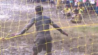 Awesome penalty kicks in a final football match /mindblowing football of a village school