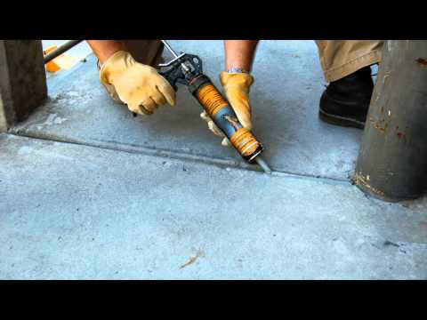 polyurethane self-leveling concrete crack sealant