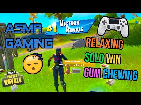 ASMR Gaming 😴 Fortnite Relaxing Solos Win Gum Chewing 🎮🎧 Controller Sounds 💤