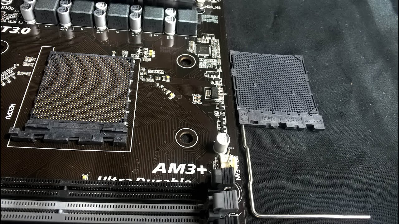 AMD AM3 Socket How to Get it Apart or Removing AM3 Socket Cover