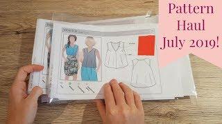 Pattern Haul July 2019 - Style Arc   Named Clothing   Fabric Haul