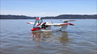 Flying ICON A5 on Lake Berryessa