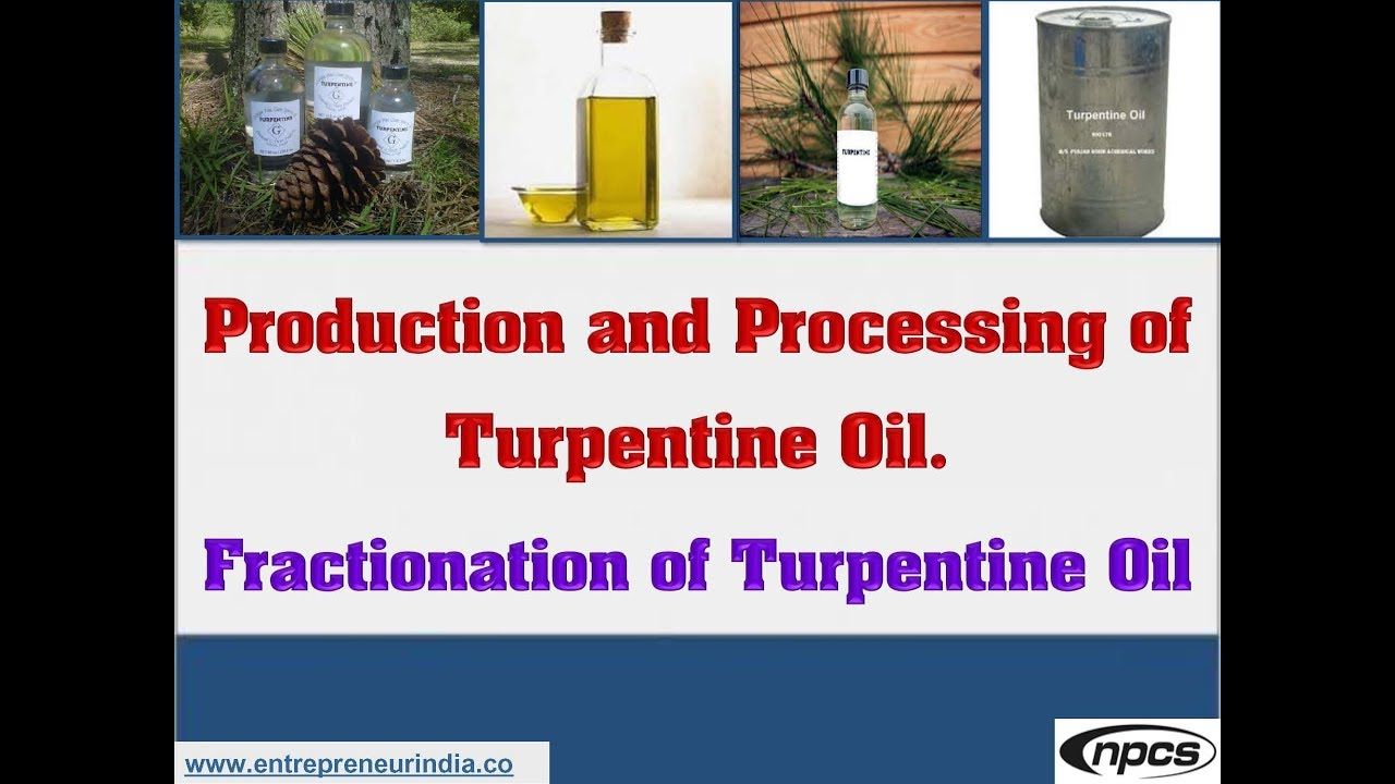 Production and Processing of Turpentine Oil