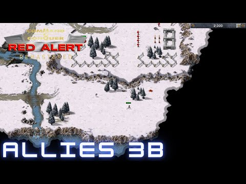 Command & Conquer Red Alert Remastered - Allied Mission 3B - DEAD END SOUTH (Hard)  
