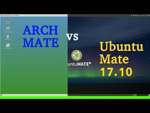 Arch Mate vs Ubuntu Mate 17.10 - Ein Vergleich (Out of the Box) - Wie schaut der Anfangszustand aus?