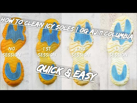 How To Clean Icy Soles AJ 11 Columbia (Quick & Easy)