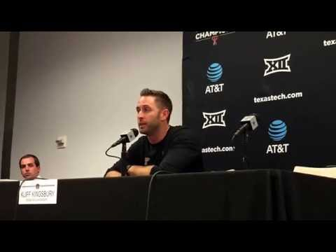 Kliff Kingsbury after Texas Tech beats Baylor, 54-35